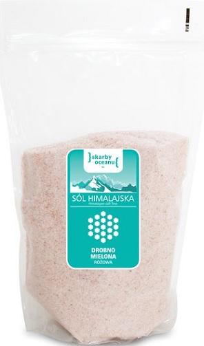 Tesoros del océano de sal rosa del Himalaya, finamente picado