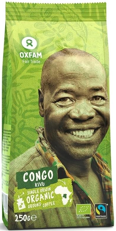 Oxfam kawa mielona Arabica 100%  Z OKOLIC JEZIORA KIVU FAIR TADE BIO
