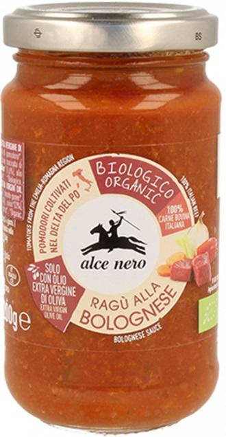 salsa de tomate con los Alce Nero BIO carne de vacuno