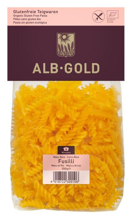 Alb Gold Makaron kukurydziano-ryżowy fusilli bezglutenowy BIO