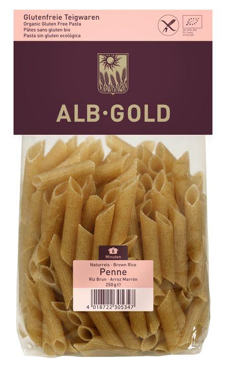Alb Gold Makaron penne z ryżu brązowego bezglutenowy BIO