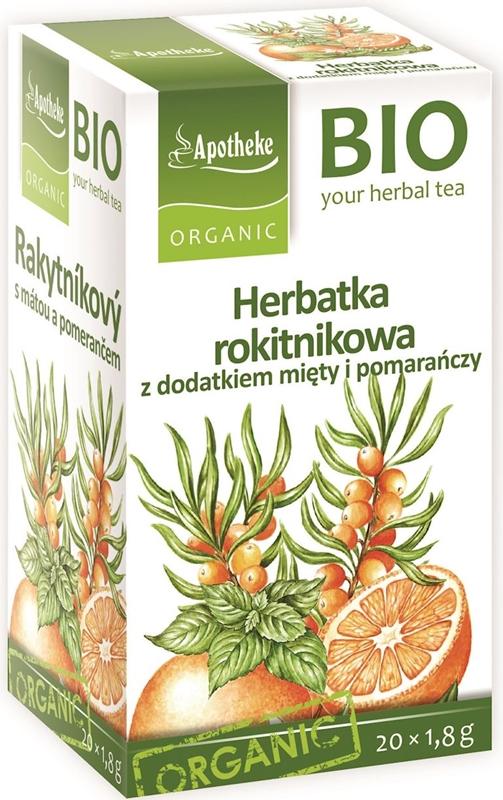 Apotheke Herbatka rokitnikowa z dodatkiem mięty i pomarańczy BIO