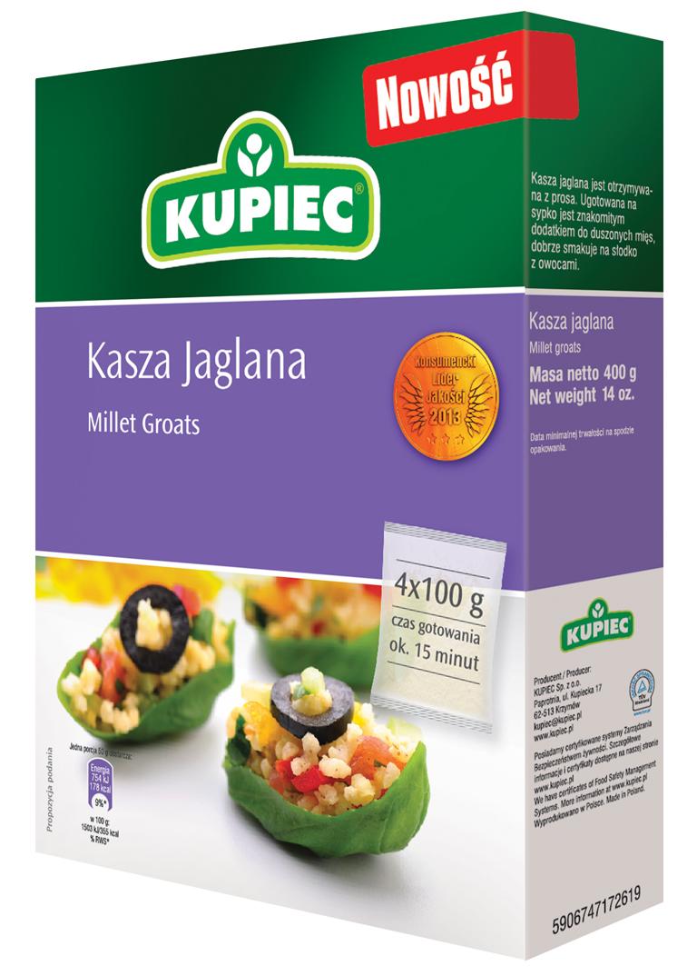 Kupiec Kasza jaglana (4 torebki)