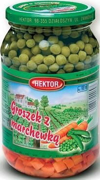 Guisantes y zanahorias Hektor