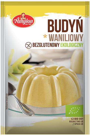 Amylon Budyń o smaku waniliowym BIO bezglutenowy