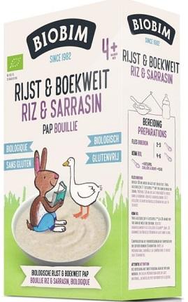 Biobim Ekologiczna kaszka ryżowo-gryczana, bezglutenowa, bezmleczna