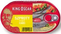 King Oscar Szproty w oleju caro
