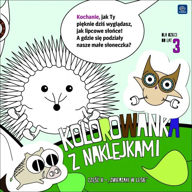"""libro para colorear con pegatinas Interdruk """"bosque mascota"""" Parte II"""
