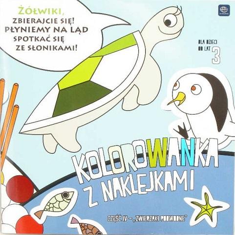 """Interdruk livre de coloriage avec des autocollants """"animal sous-marin"""" Partie IV"""