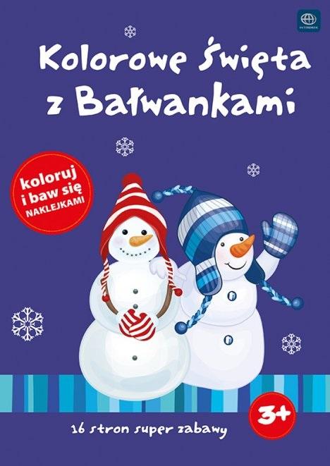 """Interdruk раскраски """"Красочный Рождество с bałwankami"""" раскраски и веселые наклейки"""