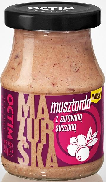 Octim  Musztarda Mazurska z żurawiną suszoną