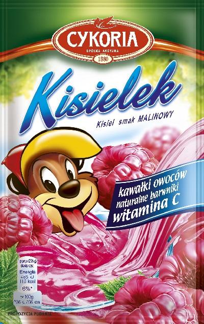 Cykoria Kisielek kisiel z kawałkami owoców instant o smaku malinowym