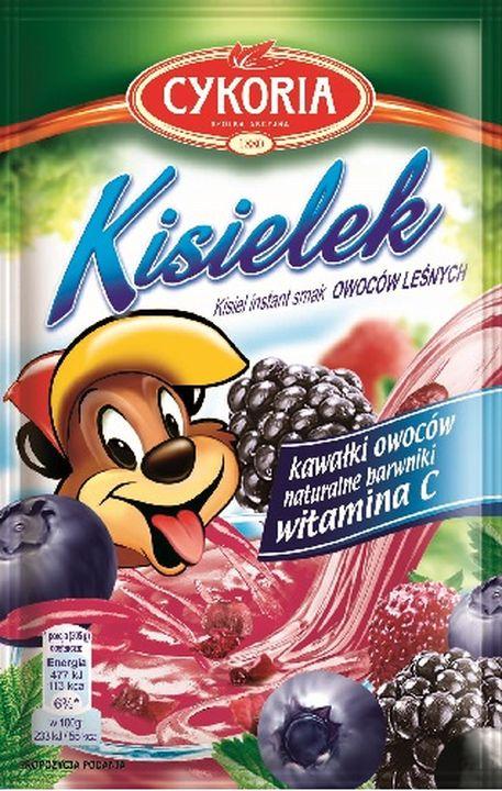 Cykoria Kisielek kisiel z kawałkami owoców instant o smaku  leśnych
