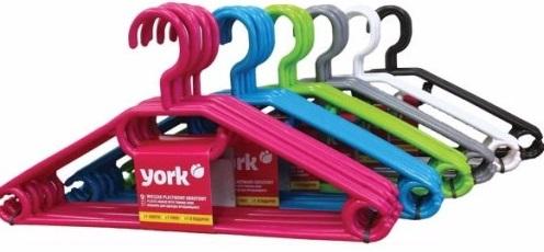 York wieszak plastikowy obrotowy różne kolory
