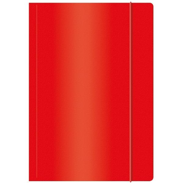 Ok Office Teczka A4 z gumką lakierowana czerwona