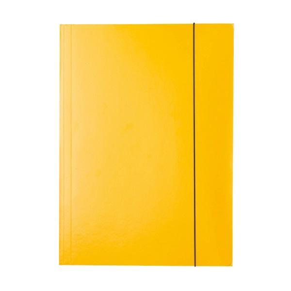 Ok Office Teczka A4 z gumką lakierowana żółta
