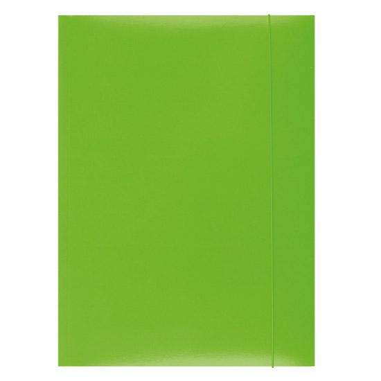 Ok Cartera de la oficina A4 con revestimiento de goma de color verde claro