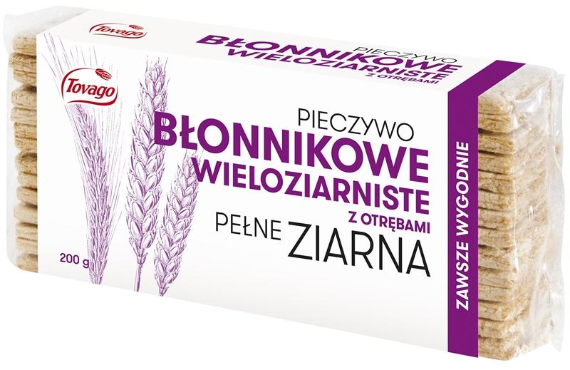 TOVAGO multigrain bread with bran -fiber whole grains