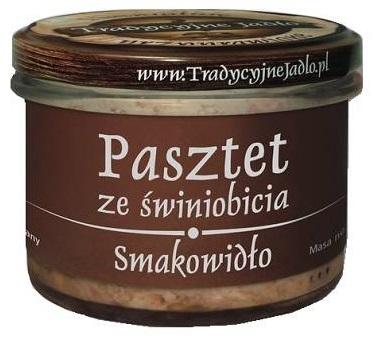 Tradycyjne Jadło Pasztet ze świniobicia. Smakowidło 160g