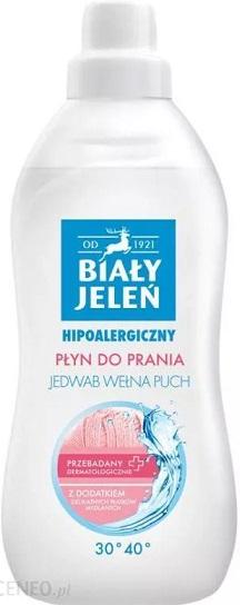 Biały jeleń hipoalergiczny płyn do prania tkanin jedwab wełna puch