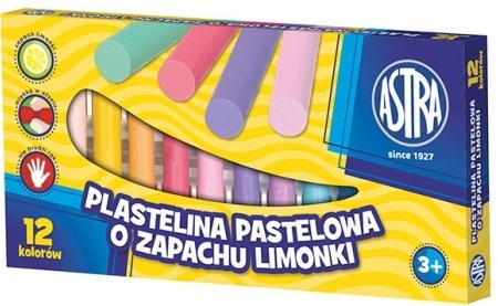 Astra Plastelina pastelowa o zapachu limonki 12 kolorów