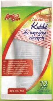 Amigo tazas para bebidas frías 200 ml, 12 piezas