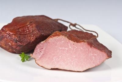 Традиционная пища Olchowa копченая ветчина, жареная