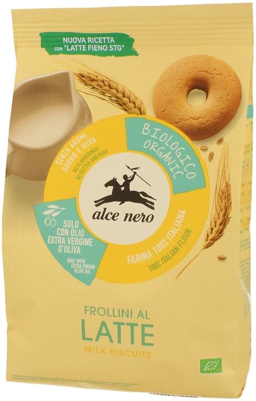 Alce Nero herbatniki mleczne BIO