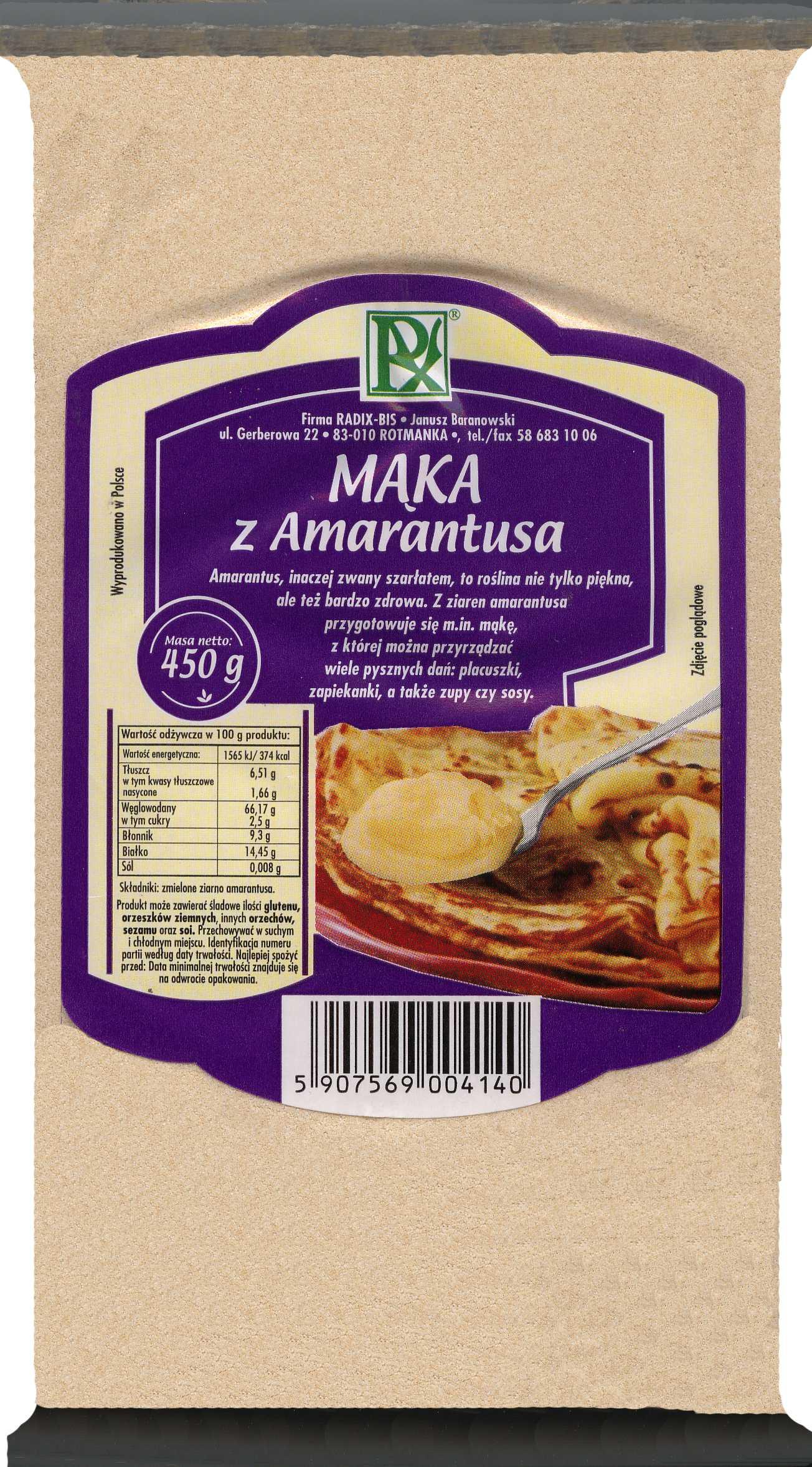 Radix-Bis mąka amarantusowa