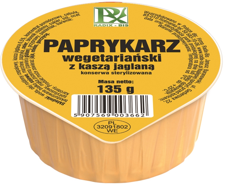 Radix-Bis paprykarz wegetariański z kaszą jaglaną