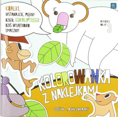 "Interdruk coloring book with stickers ""wild animals"" Part III"