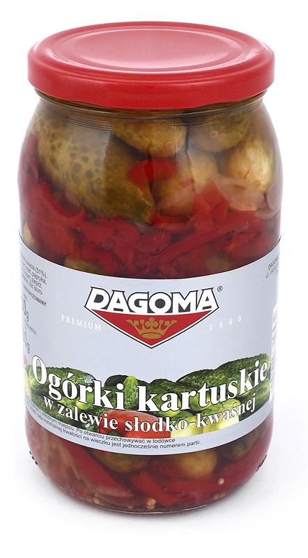 Dagoma ogórki kartuskie w zalewie słodko-kwaśnej