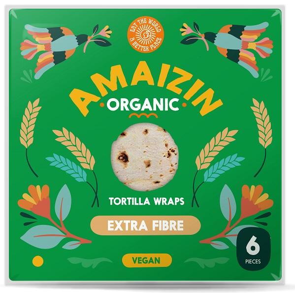 Amaizin Tortilla wraps źródło błonnika pokarmowego BIO