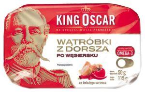King Oscar wątróbki z dorsza po węgiersku