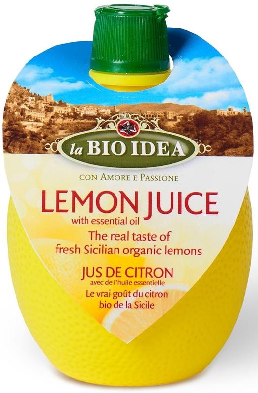 la BIO IDEA sok z cytryny z olejkiem cytrynowym BIO