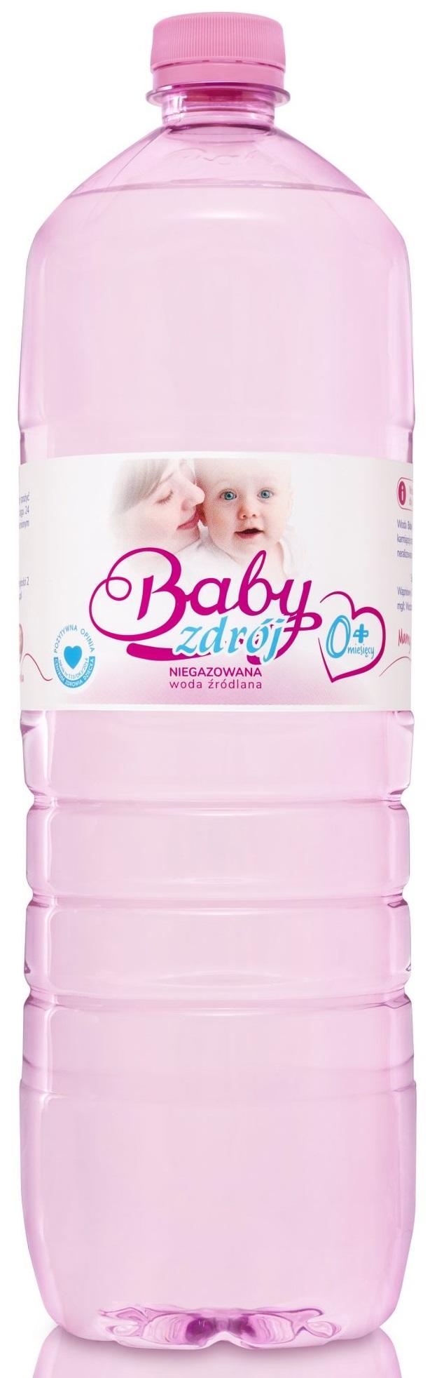 eau de source thermale de bébé non gazéifiée