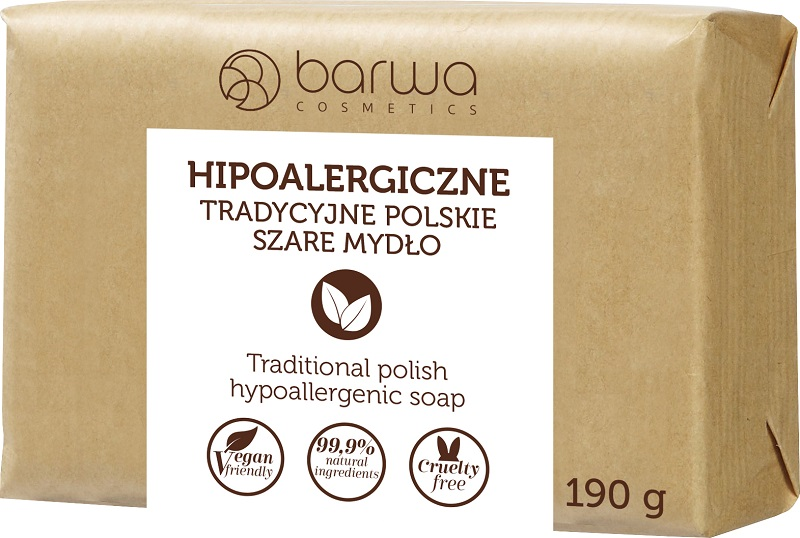 Barwa szare mydło bezzapachowe hipoalergiczne