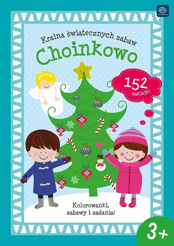 """Interdruk раскраски """"Земля Рождества zabaw.Choinkowo"""" раскраски, забавные задачи и 152 наклейки"""