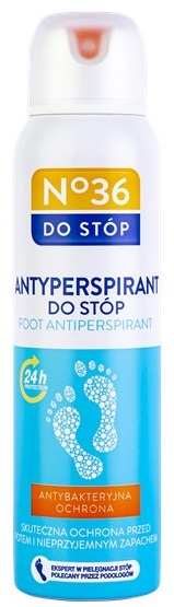 No.36 antyperspirant do stóp o właściwościach antybakteryjnych i przeciwgrzybicznych olejek z drzewa herbacianego