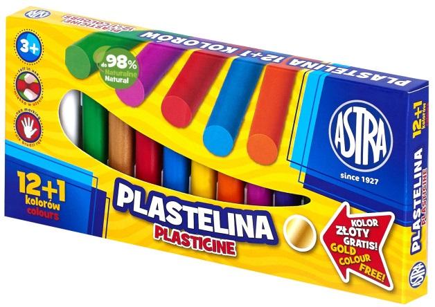 Astra Plastelina 12 kolorów+ 1 kolor gratis