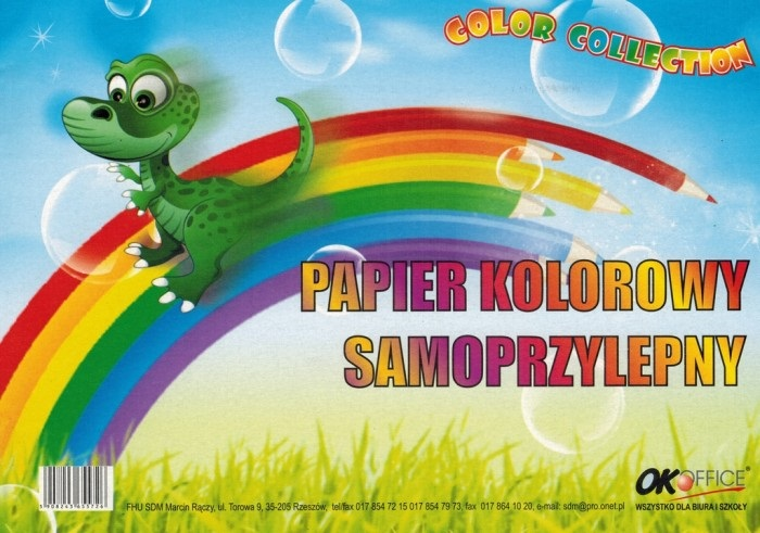 Ok colores autoadhesiva Oficina de papel A4