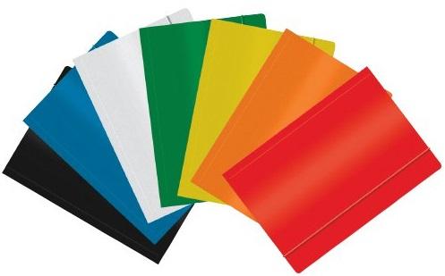 Офис портфель A4 с резиновым покрытием красного цвета