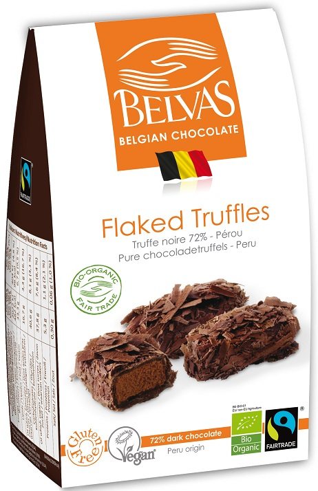 BELVAS chocolats belges truffe chocolat noir 72% BIO