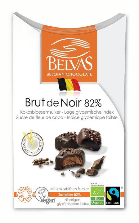 BELVAS Belgijskie czekoladki gorzka czekolada 82% BIO