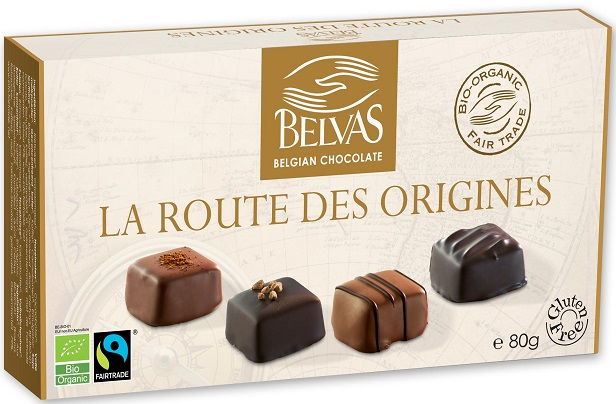 BELVAS Belgijskie czekoladki bombonierka mix BIO