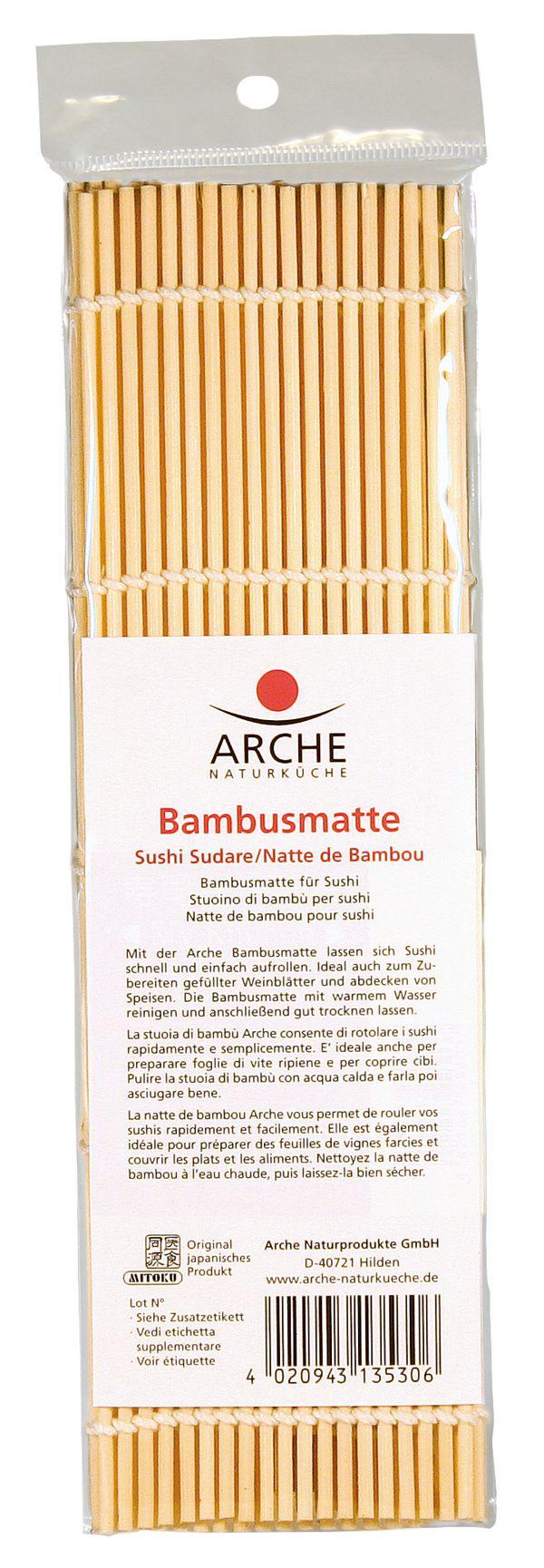 ARCHE en estera de bambú sushi