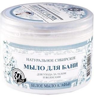 Агафи Травы и трава Белое мыло для тела и волос