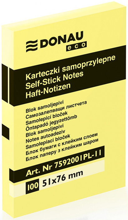 Notas Adhesivas Donau en el cojín de 51x76 mm