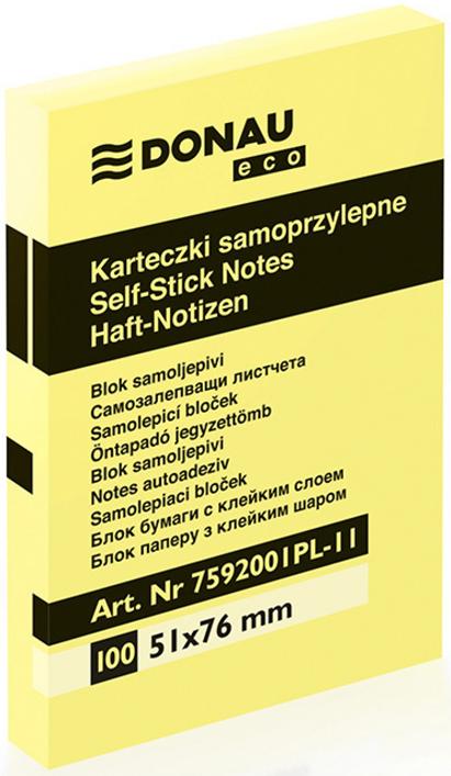 Donau Karteczki samoprzylepne w bloczku 51x76 mm