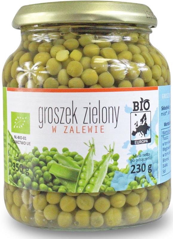 Bio Europe Green Peas pickled in a jar BIO